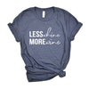 Less Whine More Wine - Heather Navy Unisex Tee
