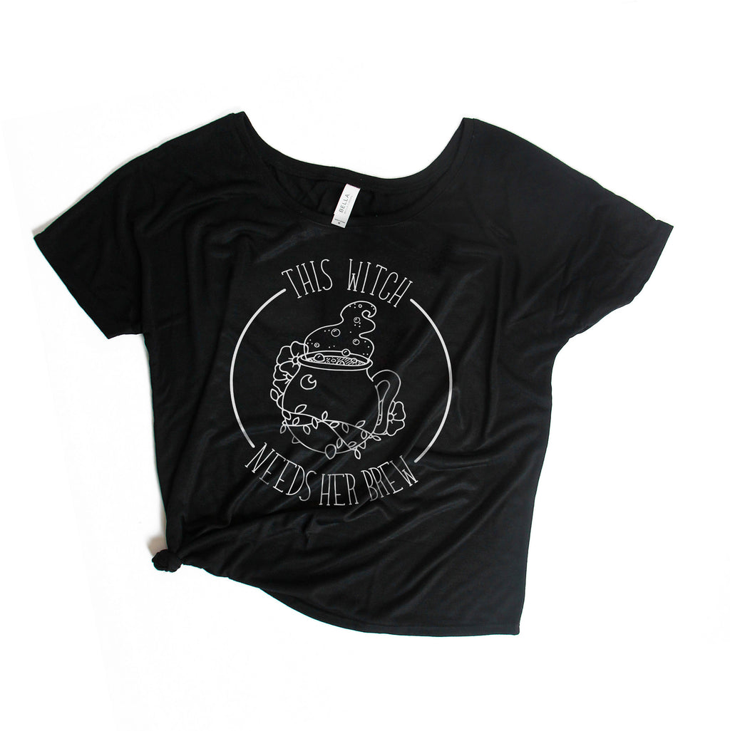 This Witch Needs Her Brew - Black Women's Slouchy Tee
