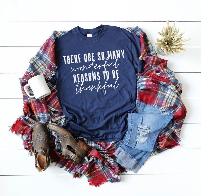 Reasons to be Thankful - Navy Unisex Tee