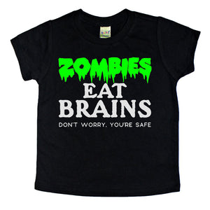 zombies eat brains funny kids zombie tshirt