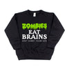 Zombies Eat Brains - Kids Fleece Pullover