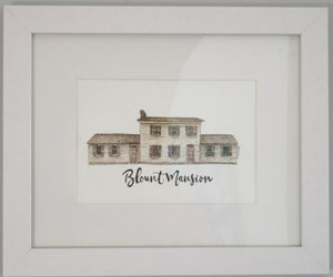 Blount Mansion Framed Watercolor Painting