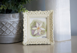 Lily Framed Watercolor Painting