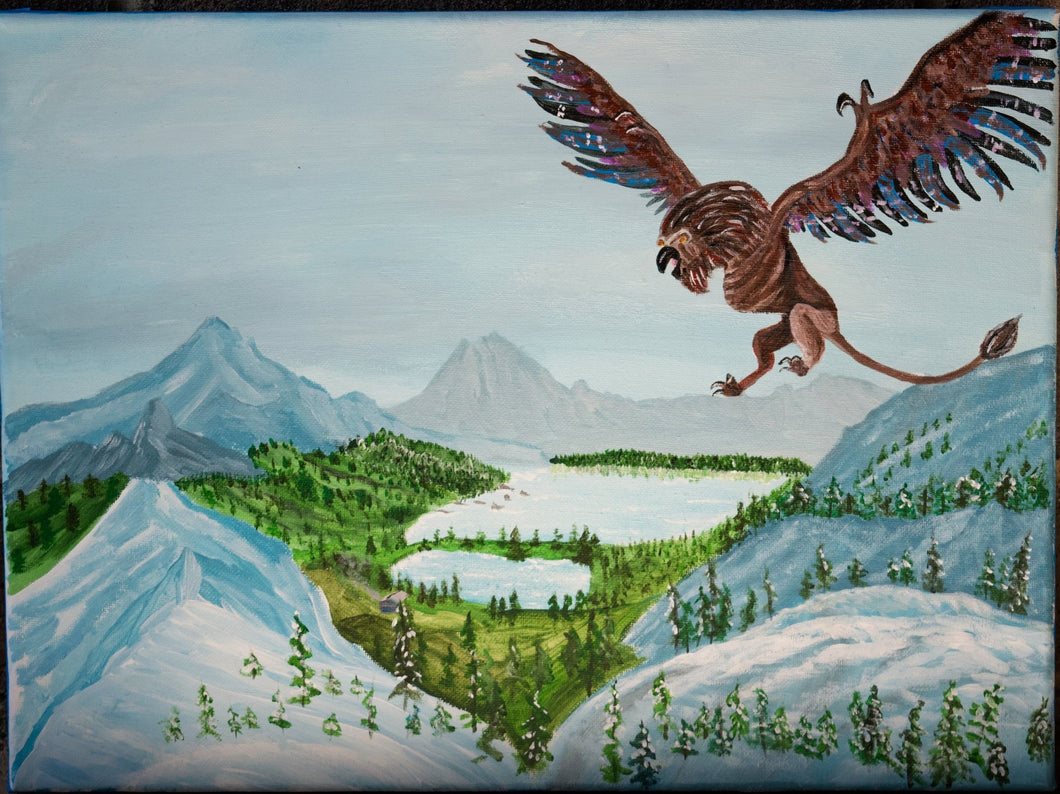Griffin Acrylic Canvas Painting