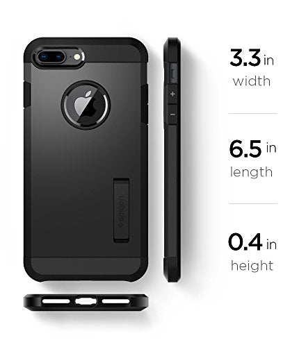 finest selection f4262 d49c7 Spigen Tough Armor [2nd Generation] iPhone 8 Plus Case / iPhone 7 Plus Case  with Kickstand Air Cushion Technology for Apple iPhone 8 Plus (2017) / ...