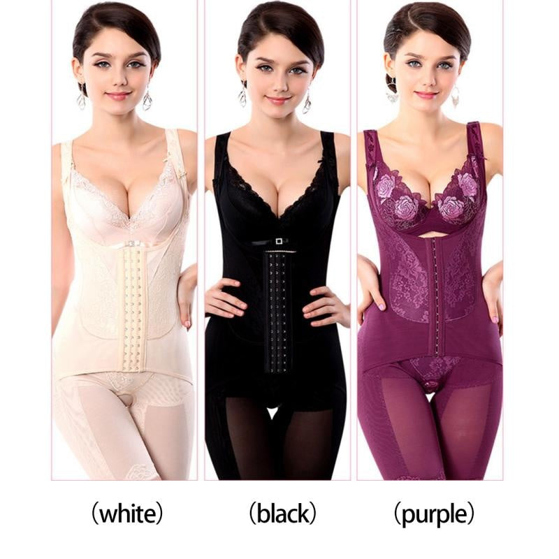 f61c88588b ... Women Summer Magnetic Bodysuit Women Girdles Slimming Body Shaper  Corset Shapewear Underwear Waist Corsets ...