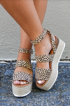 Summer Feelings Wedges- Cheetah