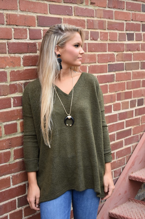 Olive Piko Sweater