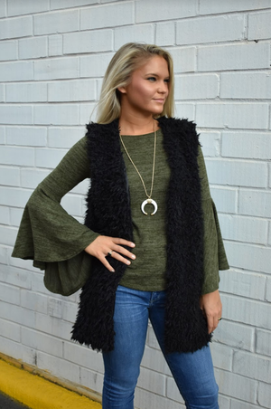 Georgia Faux Fur Vest