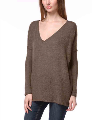 Brown Piko Sweater