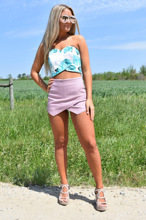 Mauve Envelope Shorts