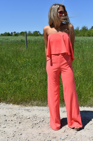 Brooklyn Coral Jumpsuit