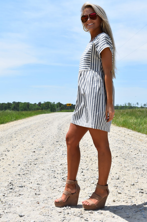 Striped Babydoll Dress