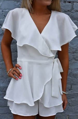 Meant To Be Romper- White