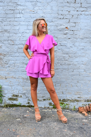 Meant To Be Romper- Orchid
