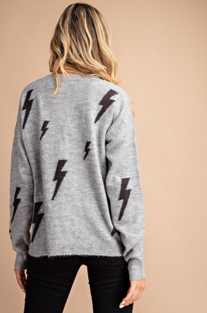 Thunderbolt Sweater - Heather Grey