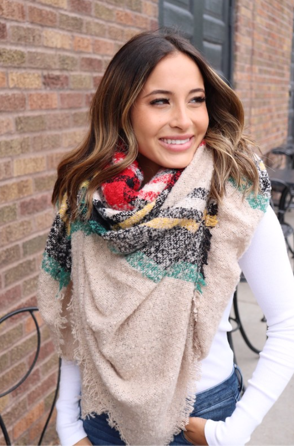 Cream Blanket Scarf