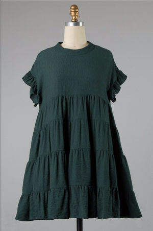 Hunter Babydoll Dress - Hunter Green