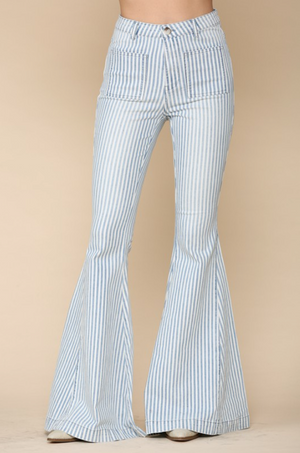 Girl, Yes! Striped Bell Bottoms