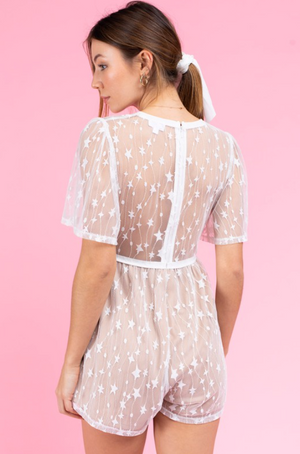 Shooting Star Romper- Nude