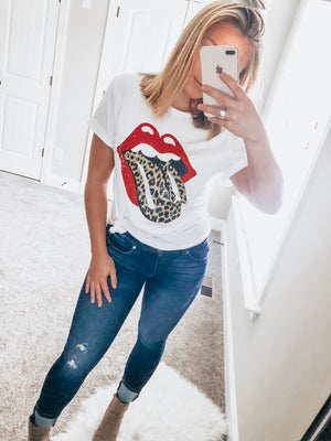 Leopard Rock Graphic Tee