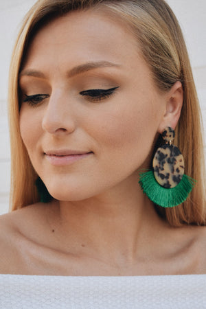 Going Green Statement Earring