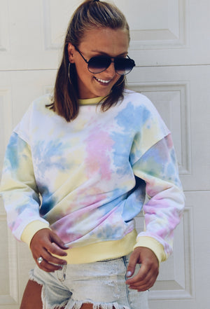 The Groovy Girl Sweatshirt- Pastel Multi