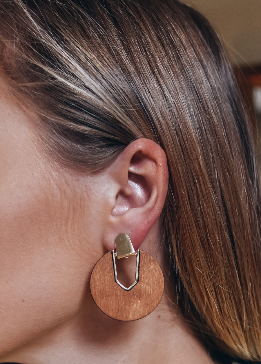 Wood Statement Earring