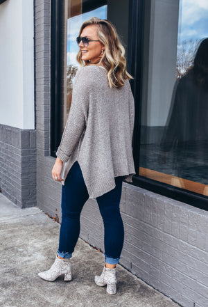 Fall Vibes Sweater- Light Mocha