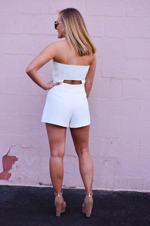 The Rylee Romper - White