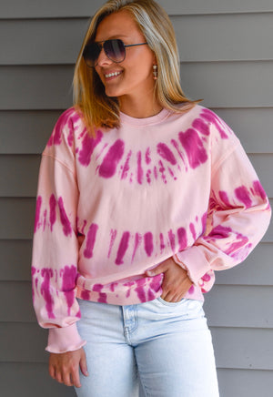 The Andy Sweatshirt - Pink Multi