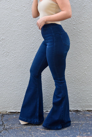 The Reese High Waisted Bell Bottoms- KanCan