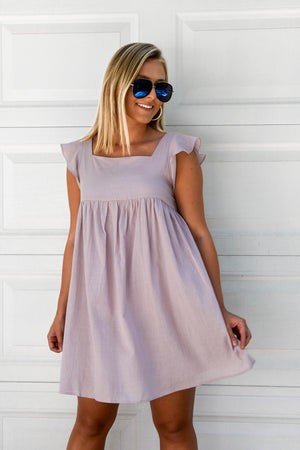 The Miley Babydoll Dress - Mauve