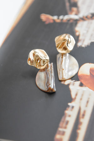 Half Disk Shell Earrings