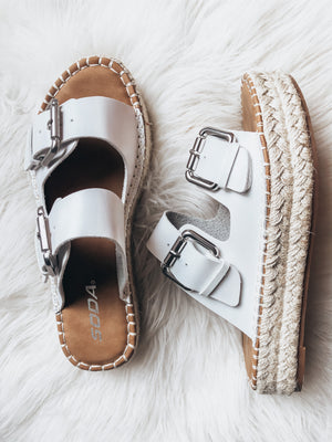 The Outer Banks Espadrille Slip Ons- White