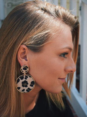 Cheetah Statement Earrings