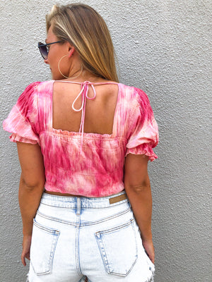 Final Sale Watermelon Sugar Top- Bleached by Bold