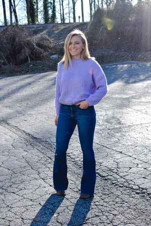 Lucky Lavender Cropped Sweater