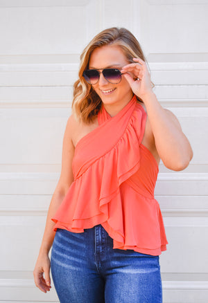 The Kate Halter Top - Orange
