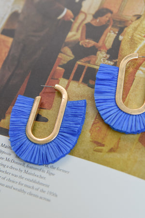 Raffia statement earrings