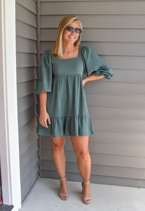 The August Dress- Olive
