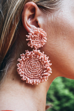 Lola Statement Earrings - light pink