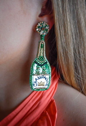 Champange Statement Earrings