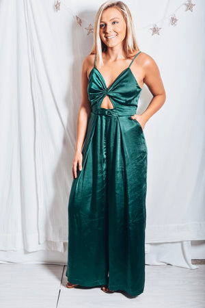 Memories Hunter Green Jumpsuit