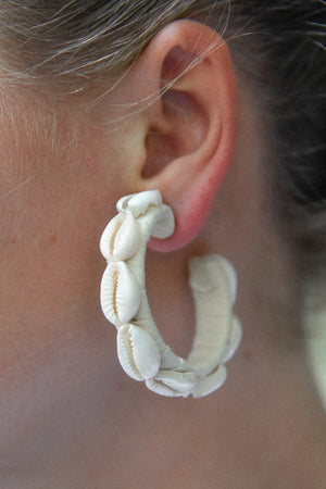 Cream shell hoops