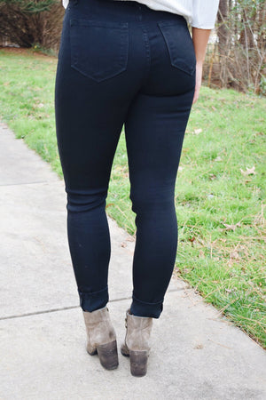 Black Distressed High Waisted KanCan Jeans