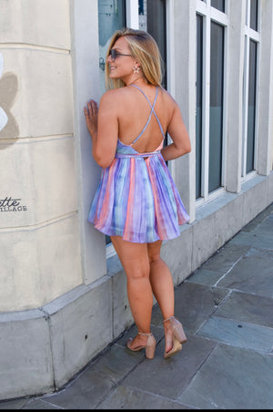 Oh You Fancy, Huh? Romper - Lavender mix