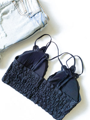 The Jess Bralette - Black