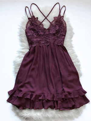 The Carson Dress - Plum