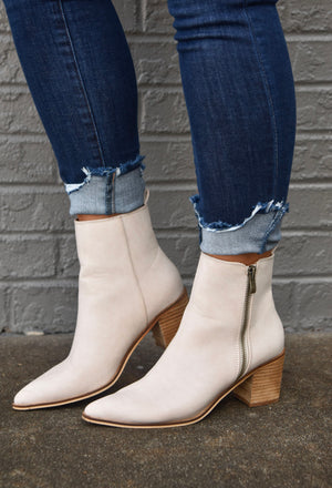 The Cindy Booties- Sand